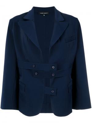 Front straps blazer Gloria Coelho. Цвет: синий