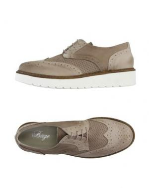 Обувь на шнурках BAGE. Цвет: бежевый