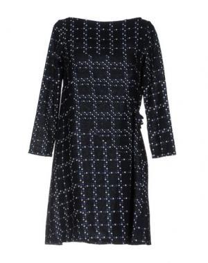 Короткое платье BINI Como. Цвет: темно-синий