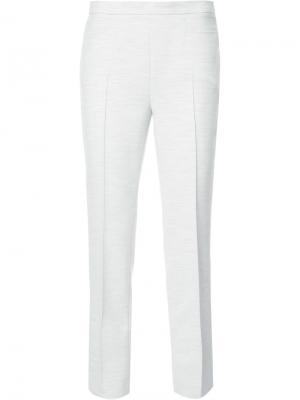 Прямые укороченные брюки Akris Punto. Цвет: серый