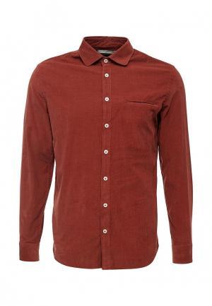 Рубашка Mango Man. Цвет: коричневый