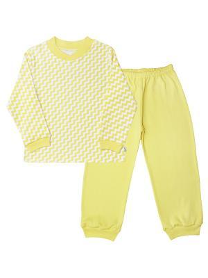 Пижама Веселый малыш. Цвет: светло-желтый, золотистый, белый, светло-серый