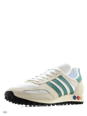 Кроссовки LA Trainer OG Shoes Adidas. Цвет: бежевый, зеленый