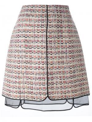 Твидовая юбка Giambattista Valli. Цвет: многоцветный