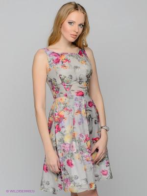Платье Remix. Цвет: серый, зеленый, розовый