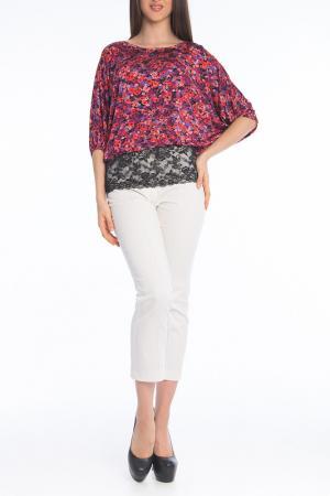 Блуза MoNaMod. Цвет: розовый