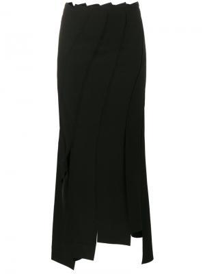 Асимметричная юбка с декоративными узлами Rejina Pyo. Цвет: чёрный