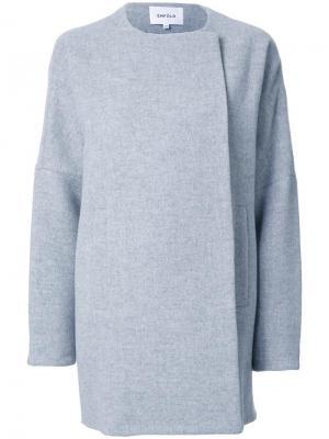 Однобортное пальто Enföld. Цвет: серый