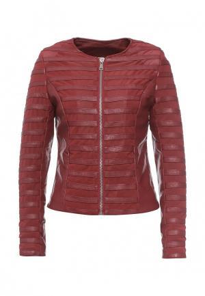 Куртка кожаная Paccio. Цвет: бордовый