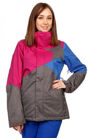Куртка женская  Snow Jacket Sarin Women Dark Grey Zimtstern. Цвет: розовый,серый,синий