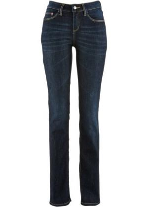 Прямые джинсы-стретч, cредний рост N (темно-синий) bonprix. Цвет: темно-синий