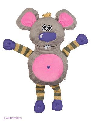 Подушка-обнимашка Мышь, 60см. Fluffy Family. Цвет: серый