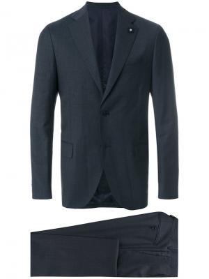 Классический костюм Lardini. Цвет: серый