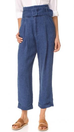 Льняные брюки Ripley Sea. Цвет: голубой