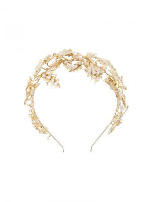 Декорированный ободок для волос Rosantica. Цвет: металлический
