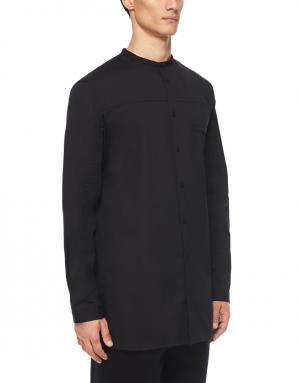 Хлопковая рубашка Helmut Lang. Цвет: черный