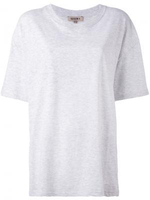 Свободная футболка Yeezy. Цвет: серый