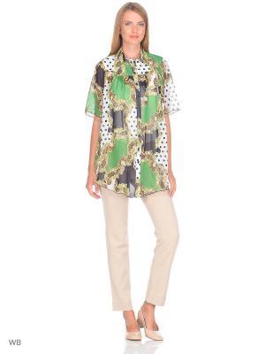 Рубашка Nuova Vita. Цвет: зеленый