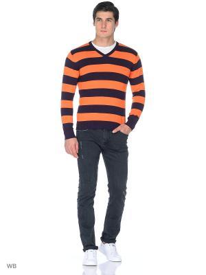 Пуловер KARFF. Цвет: оранжевый