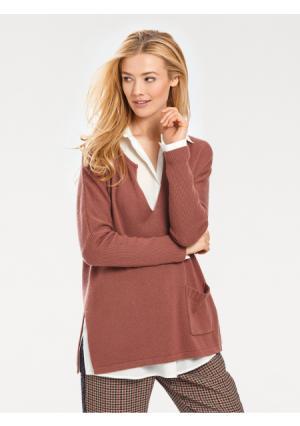 Пуловер RICK CARDONA by Heine. Цвет: серый меланжевый, цвет розового дерева, черный, экрю