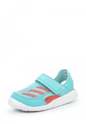 Сандалии adidas Performance. Цвет: мятный