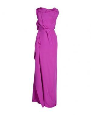 Длинное платье ROLAND MOURET. Цвет: розовато-лиловый