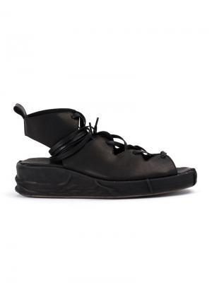 Сандалии на шнуровке Masnada. Цвет: чёрный