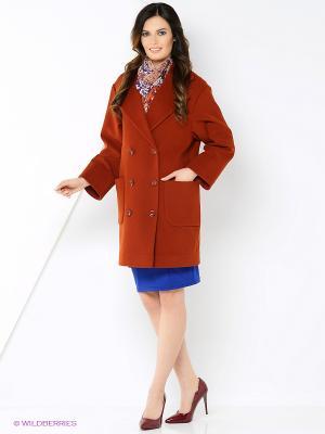 Пальто-oversize RUXARA. Цвет: терракотовый