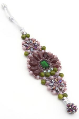 Браслет VANITY HER. Цвет: фиолетовый, зеленый