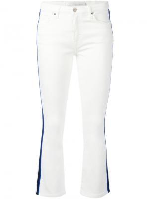 Укороченные брюки Victoria Beckham. Цвет: белый