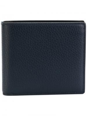 Складной кошелек Smythson. Цвет: синий