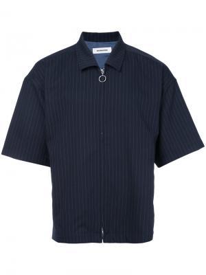 Рубашка с рукавами по локоть monkey time. Цвет: синий
