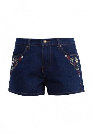 Шорты джинсовые Brave Soul. Цвет: синий
