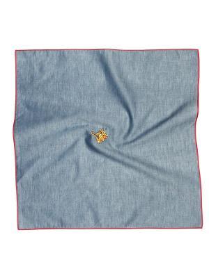Платок 100% х/б 50*50 Passigatti. Цвет: серо-голубой