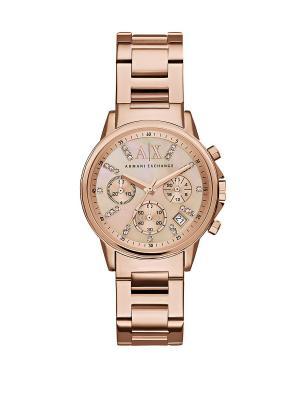 Часы Armani Exchange. Цвет: золотистый, розовый