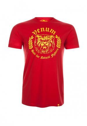 Футболка Venum. Цвет: красный