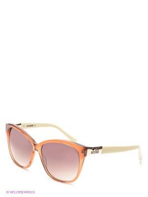 Солнцезащитные очки ML517 03 MOSCHINO. Цвет: терракотовый, бежевый