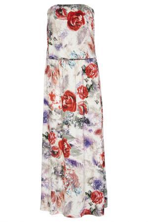 Платье из джерси Apart. Цвет: красный, бежевый
