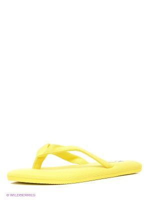 Шлепанцы Oodji. Цвет: желтый