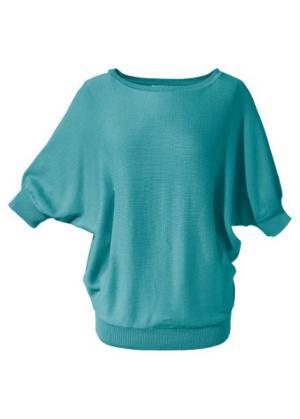 Пуловер (морской зеленый) bonprix. Цвет: морской зеленый