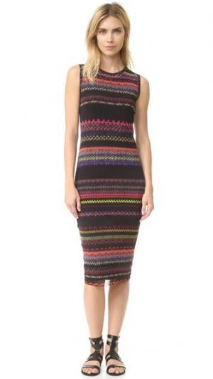Платье без рукавов Fuzzi. Цвет: голубой