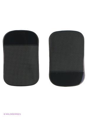 Липкий коврик SP-01B силиконовый черный. Комплект 2шт. WIIIX. Цвет: черный