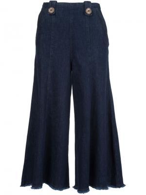 Укороченные широкие джинсы Dorothee Schumacher. Цвет: синий