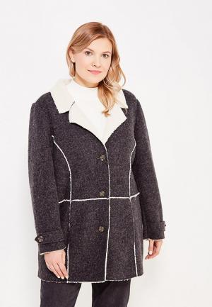 Пальто Ulla Popken. Цвет: серый