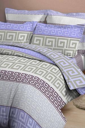 Постельное белье 1,5 сп. 50x70 Jardin. Цвет: серый, сиреневый