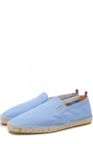 Текстильные однотонные эспадрильи Castaner. Цвет: голубой