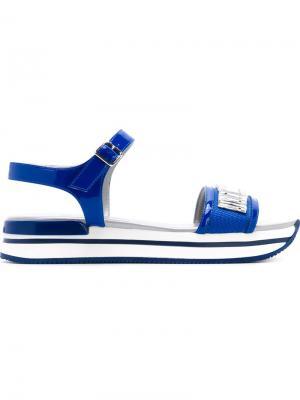Декорированные сандалии Hogan. Цвет: синий