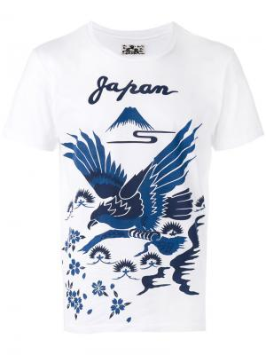 Bird print T-shirt Blue Japan. Цвет: белый