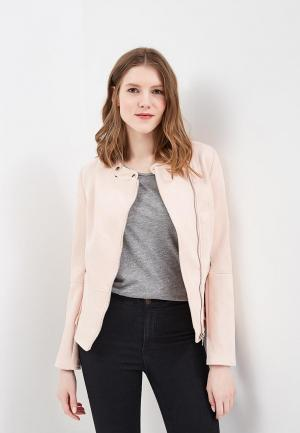Куртка кожаная Piazza Italia. Цвет: розовый