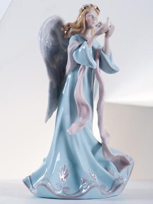 Фигурка Ангел с голубем Pavone. Цвет: голубой (осн.), кремовый